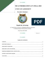 National Defense Authorization Act Section 1253 Executive Summary
