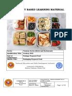 Uc 13 Packaging Prepared Food