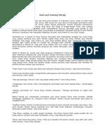 Asal-usul Gunung Merapi