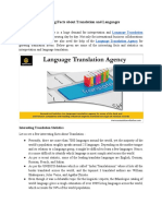 Amazing Facts About Translation and Languages