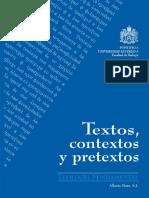 LIBRO TEXTOS, CONTEXTOS Y PRETEXTOS
