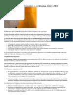 Beton projete  qualite formation et certification ASQUAPRO