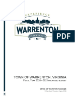 Town of Warrenton Proposed Fiscal 2021 Budget