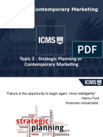 MKT601 Topic 2 - Strategic Planning in Contemporary Marketing