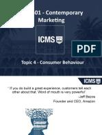 MKT601 Topic 4 -Consumer Behaviour