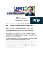 Back Matt Press Release  for the Write-In Candidatecy for Aurora's Alderman at Large 2011