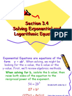 Solving Exponential and Logarithmic Equations4
