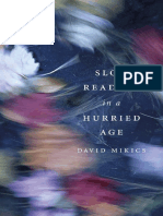 David Mikics - Slow Reading in a Hurried Age-Belknap Press (2013).pdf