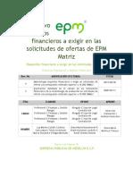 Instructivo requisitos financieros solictudes de ofertas
