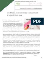 Los 5 Pasos para materializar adecuadamente el proyecto de tu casa - Hombres de Maíz.pdf