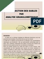 Correction des sables par granulométrie