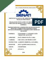 """""""REPERCUSIÓN DE LA INSPECCIÓN DE SOLDADURA EN MONTAJE Y FABRICACIÓN DE ESTRUCTURAS METÁLICAS INGENIERÍA CONSTRUCCIÓN VIRGEN DE ASUNCIÓN"""""""