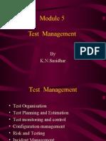 Test Management Module