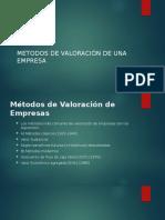 METODOS DE VALORACIÓN DE UNA EMPRESA