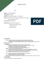 Proiect de lectie AVAP  Primavara