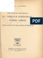 Le «vinculum substantiale» d'Après Leibniz - M. Blondel