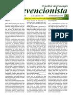 O Prevencionista - Ano XVII - Edição Nº 398 de 06 de Abril de 2.020