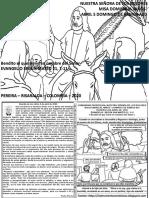 HOJITA EVANGELIO NIÑOS DOMINGO DE RAMOS  A20