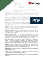 Glosario Economia II Sem 2010