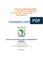 Sample Training Report
