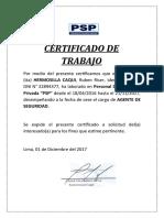 Certificado de Vigilancia