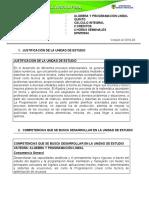 ALGEBRA Y PROGRAMACIÓN LINEAL