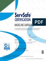 servsafe certificate