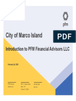 Introduction of PFM Financial Advisors LLC to City of Marco Island - March 16, 2020