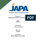 TAREA 3 DIDACTICA DE LENGUA ESPAÑOLA