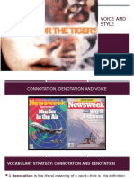 Connotation Denotation in Lady or Tiger