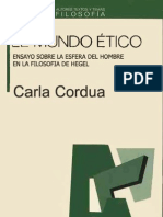 El Mundo Etico de Hegel - Cordua Carla
