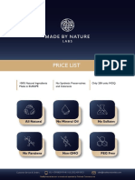 Made By Nature Labs Price List 2020