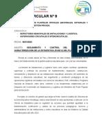 CIRCULAR 9 SEGUIMIENTO DEL FORMATO DE ESTADISTICAS
