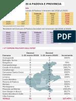 I dati sui decessi a Padova e provincia