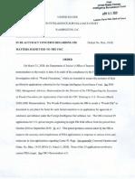 FISA Court Order - April 3