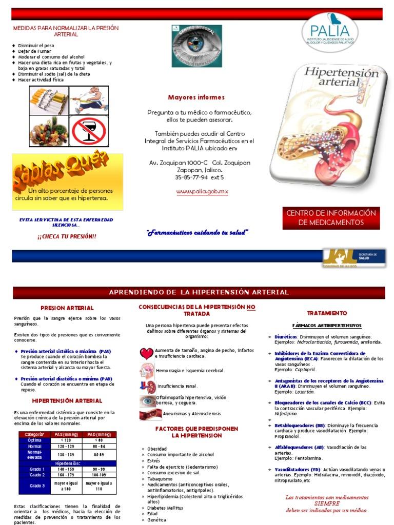 Triptico Hipertension - Hipertensión - Especialidades Medicas
