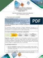 Guía de actividades y rúbrica de evaluación Reto 2 Apropiación Unadista
