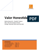 Reporte- Honestidad
