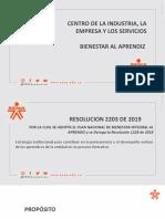 PRESENTACION PLAN DE BIENESTAR AL APRENDIZ CF