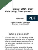 Enumeration of CD34+ Stem Cells using  Flowcytometry