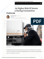 Smokers at Higher Risk of Severe COVID-19 During Coronavirus Outbreak