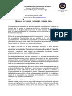 TECNICAS DE CRECIMIENTO Y CARACTERIZA