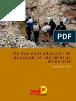 Formas de produccion coop min en Bolivia