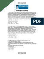 Físico-Química - Química Inorgânica (30 questões)