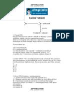 Físico-Química - Radiotividade (15 questões)