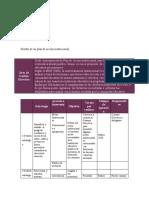 Diseño de un plan de acción institucional