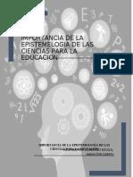 IMPORTANCIA DE LA EPISTEMELOGIA