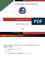 01. Orden en R. Inecuaciones.