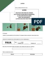 PRACTICAS DEL LENGUAJE-LA PAVA