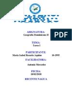 ACTIVIDAD I GEOGRAFIA DOMINICANA II